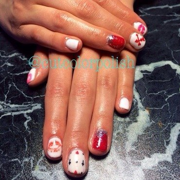 Silly love nail art by Cutcolorpolish