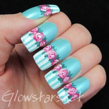 The Digit-al Dozen Does Vintage: Roses nail art by Vic 'Glowstars' Pires