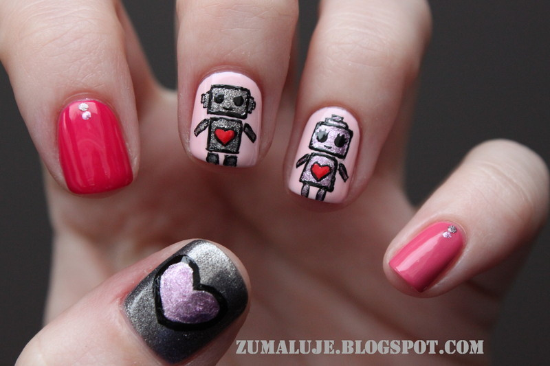 robolove nail art by Zu
