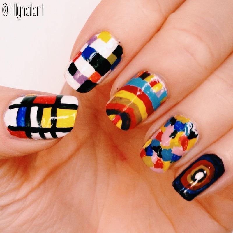 Modern Art Nails nail art by Tilly  Hawkins