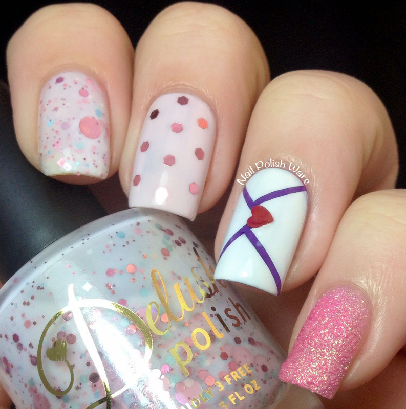 Happy Valentine's Day nail art by Nail Polish Wars