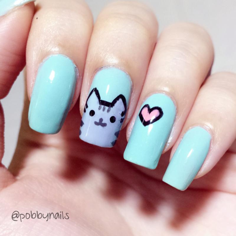 Pusheen Nails :)  nail art by Priscilla  Lim