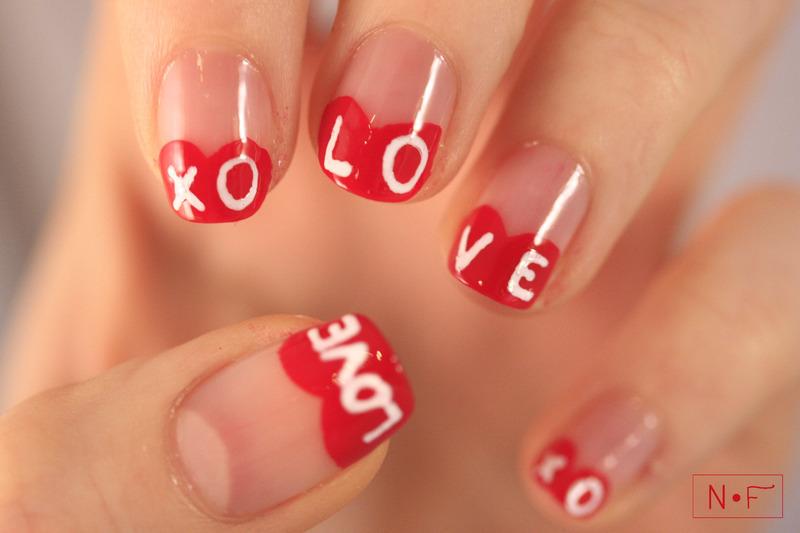Valentine's Day nail art by NerdyFleurty