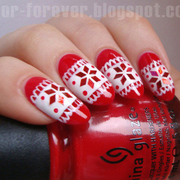 nordic sweater nail art nail art by ania