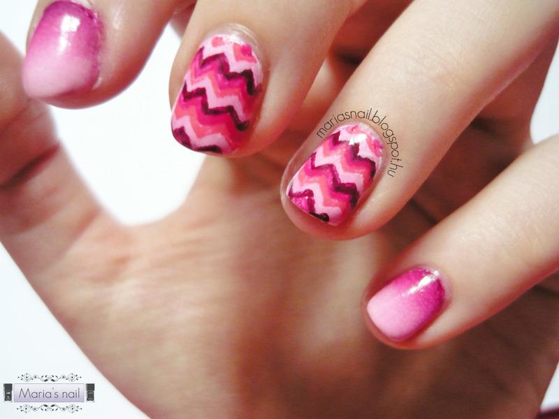 Gradient nail art by Maria