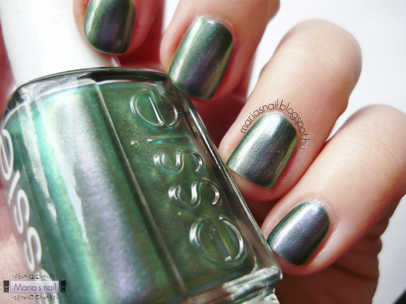 Essie - For The Twill Of It nail art by Maria