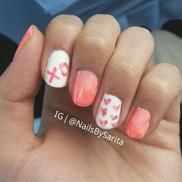 Valentines Day nails ♥ nail art by Sarita