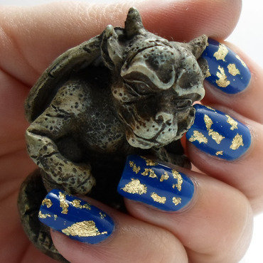 Gargoyle's Treasure nail art by Emma N.