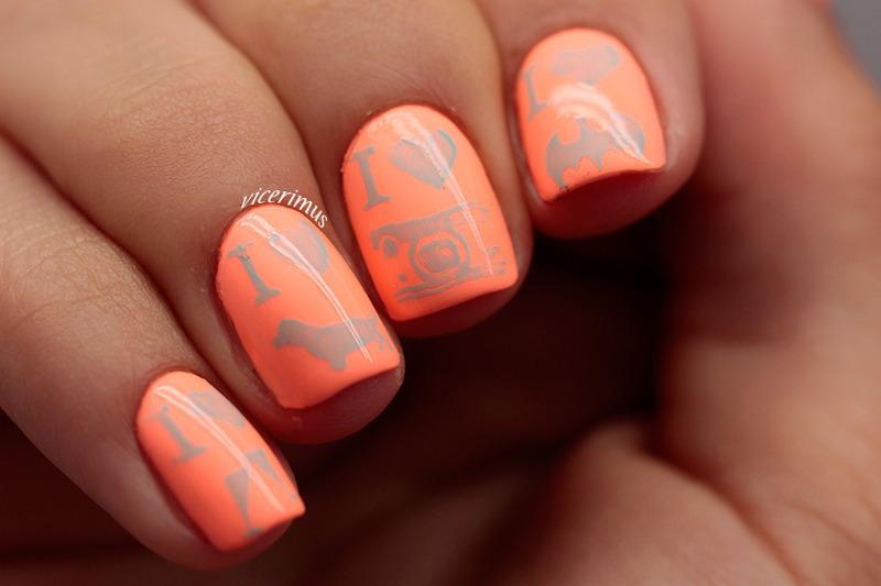I <3 ... nail art by Yulia