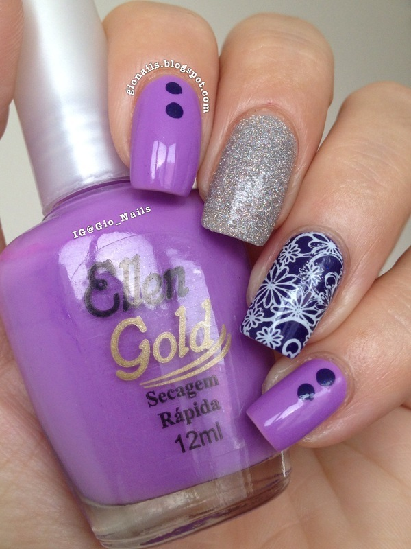 Life in Lilac nail art by Giovanna - GioNails
