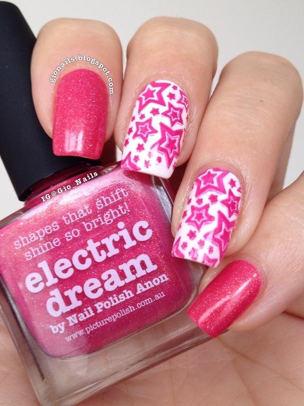 Dreamin' With Starts nail art by Giovanna - GioNails