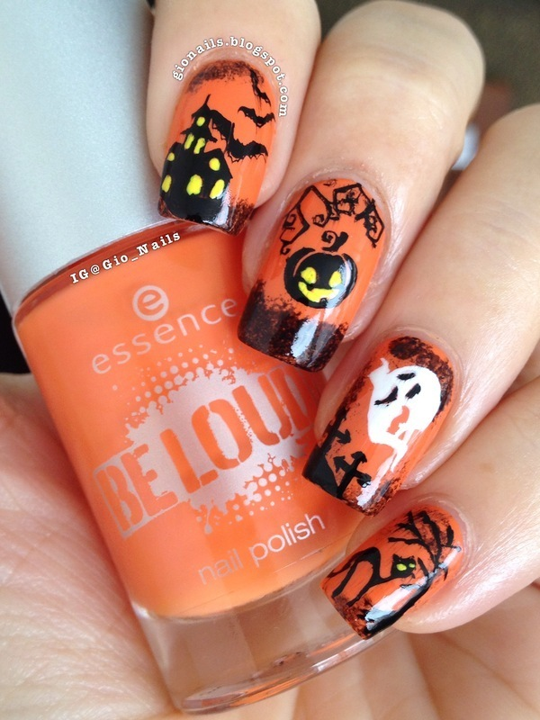 Happy Halloween 2013 nail art by Giovanna - GioNails