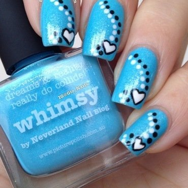 Blue Love nail art by Giovanna - GioNails
