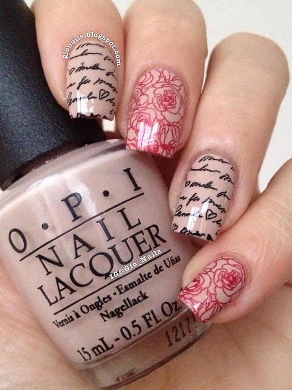 Just Romance nail art by Giovanna - GioNails