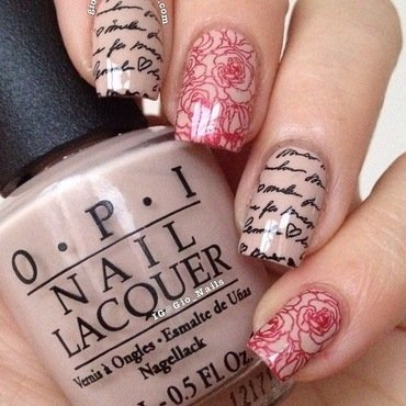 Just Romance nail art by Giovanna - GioNails