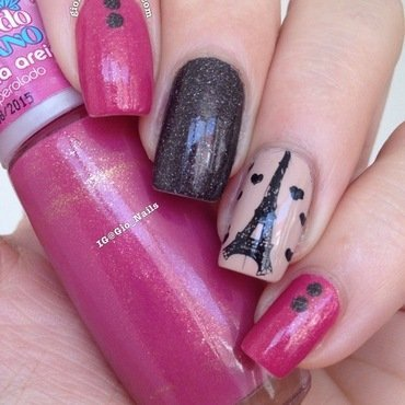 I Love Paris nail art by Giovanna - GioNails