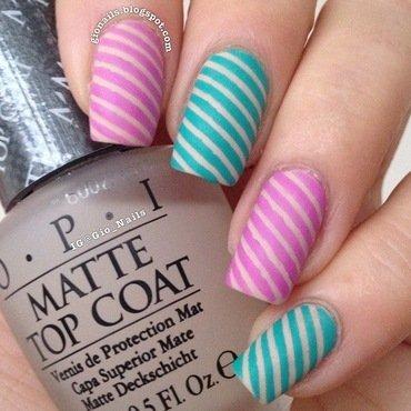 Candy Stripes nail art by Giovanna - GioNails