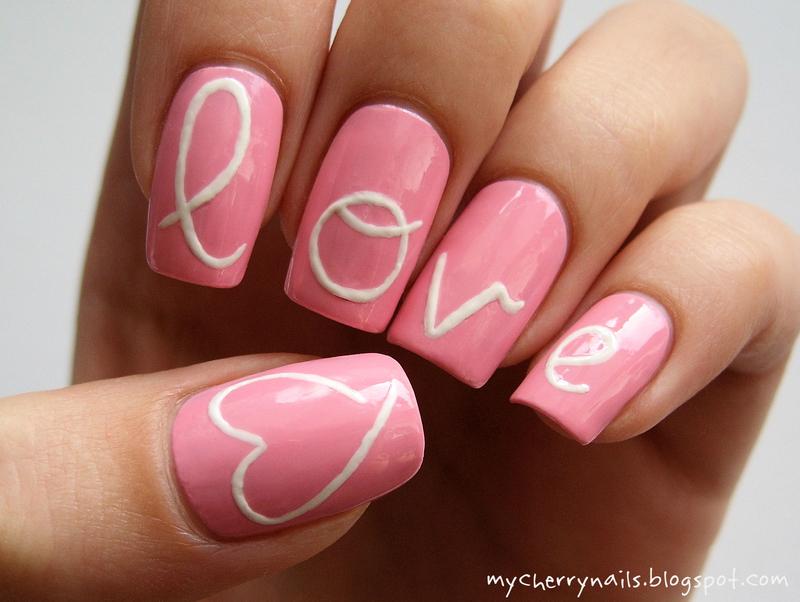 love nail art by Pauline