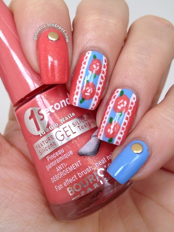 Flower Lace nail art by Giovanna - GioNails