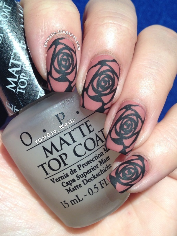 Old Rose nail art by Giovanna - GioNails
