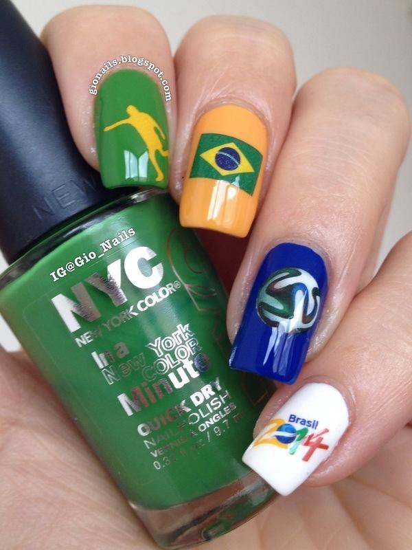 GO Brazil! nail art by Giovanna - GioNails