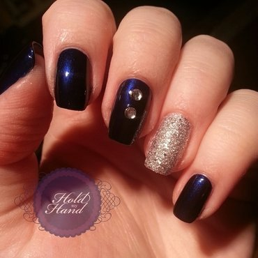 Simple Rock Chick nail art by Amy Box