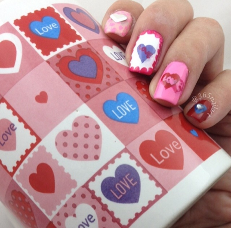 Cup of Love nail art by Janet