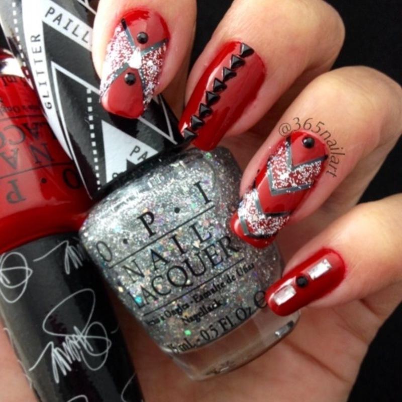 Glamorous  nail art by Janet