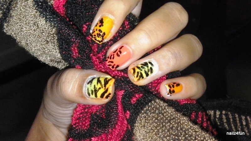 Animal Prints. nail art by Nailz4fun
