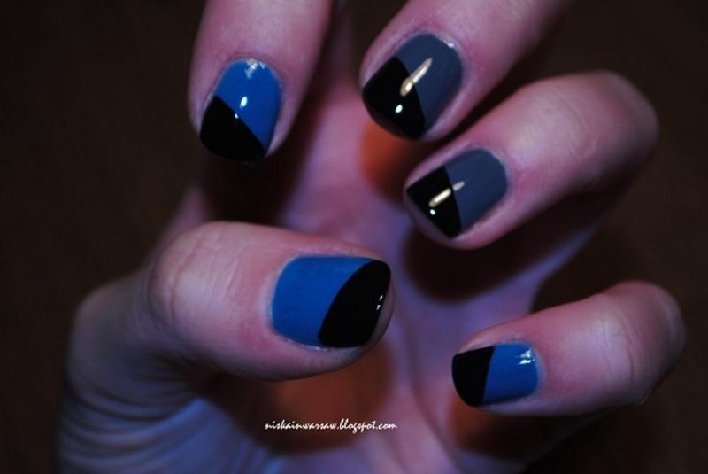 geometrical nails nail art by Niska