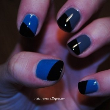 geometrical nails nail art by Niska