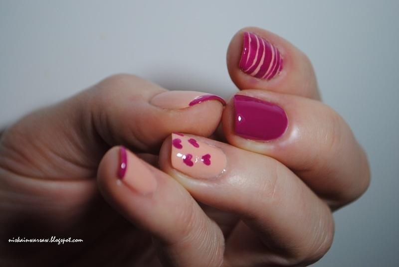 valentine's nails nail art by Niska
