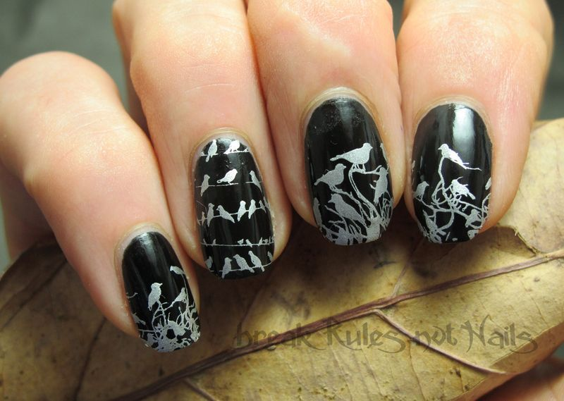 Messy Mansion birds  nail art by Michelle