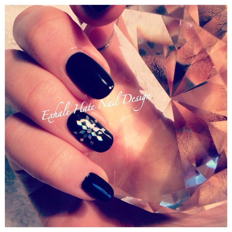 Sequin Snowflake  nail art by Courtney Haines