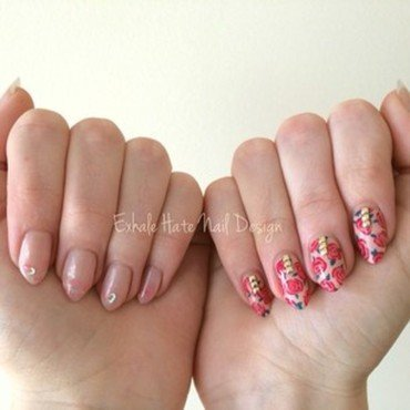 Valentine's Day Mix nail art by Courtney Haines