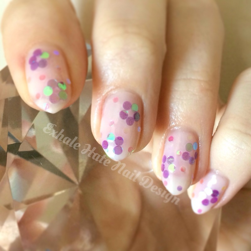 Sequin Flowers nail art by Courtney Haines