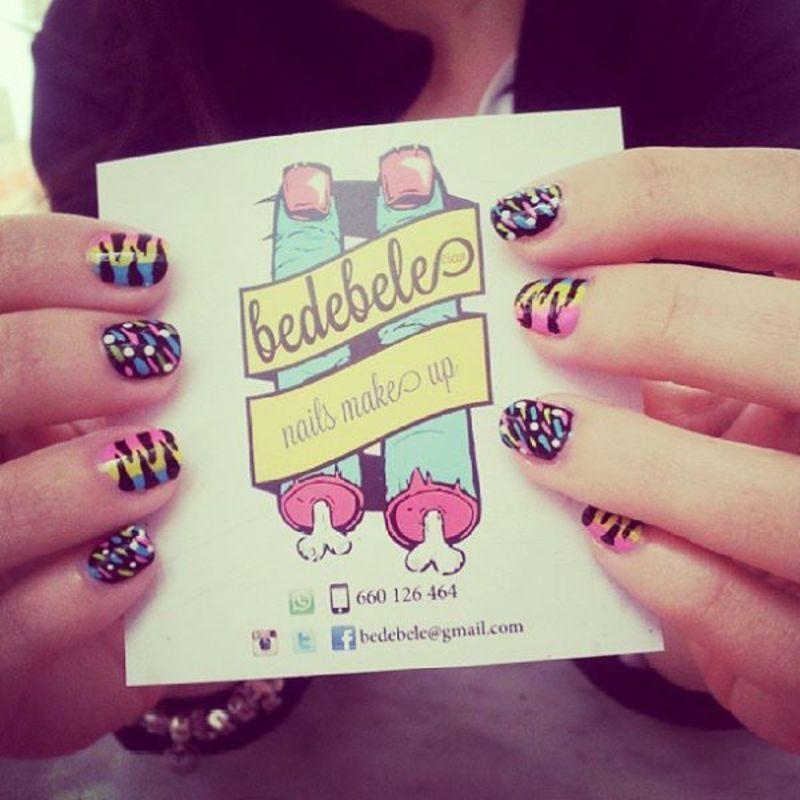 Colorful nailsmakeup nail art by Be de Bele Crew