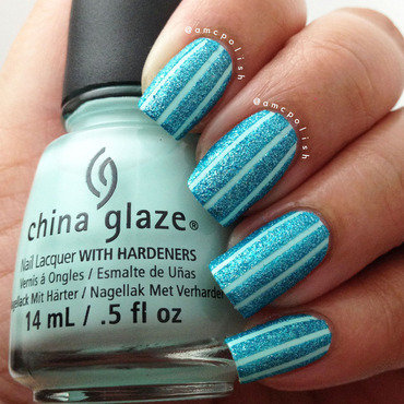China Glaze Stripes nail art by Amber Connor