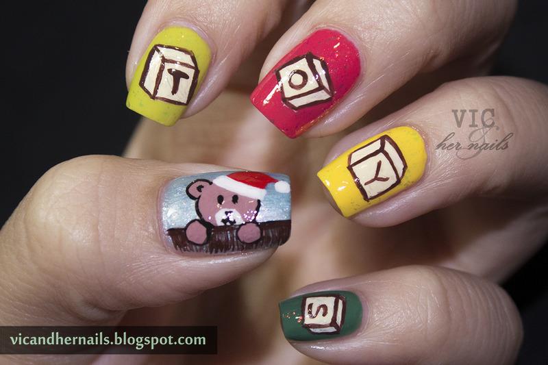 Toys Nail Art nail art by Victoria Oen