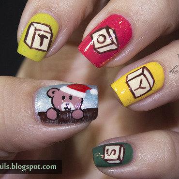 1 crumpet christmas challenge christmas toys nail art thumb370f