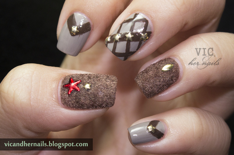 Brown Mix and Match nail art by Victoria Oen - Brown Mix And Match Nail Art By Victoria Oen - Nailpolis: Museum
