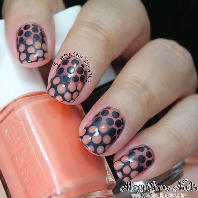 Gradient Dotticure nail art by Ana