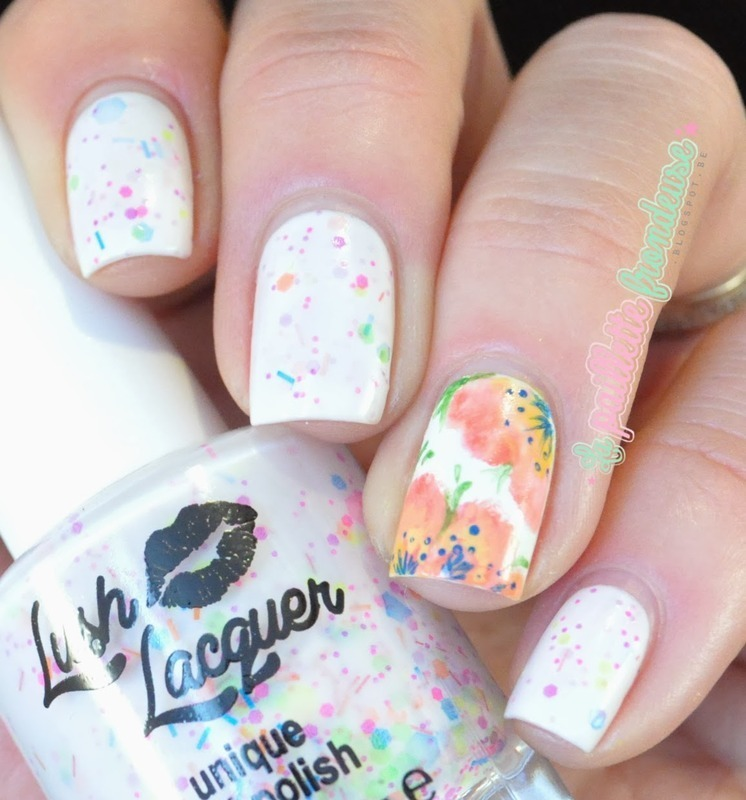 finger painted flowers nail art by nathalie lapaillettefrondeuse