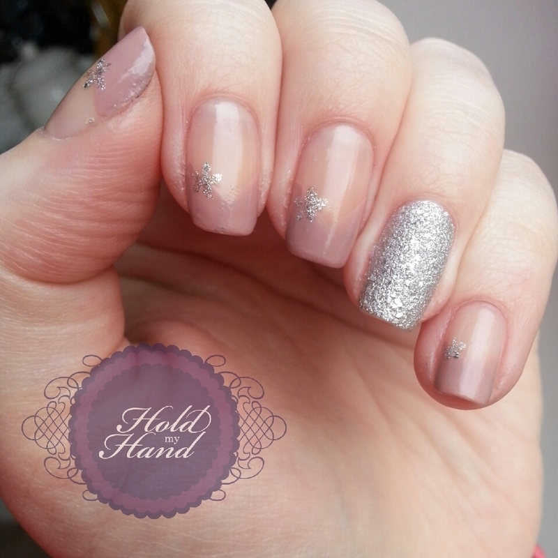 elegant french and silver nail art by Amy Box