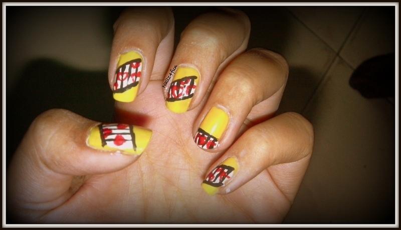 Strung Hearts nail art by Nailz4fun