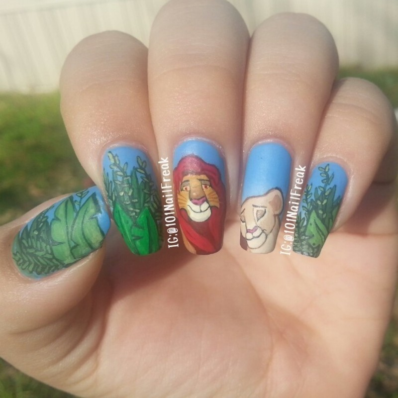 Lion King Nails nail art by Selena  Lopez