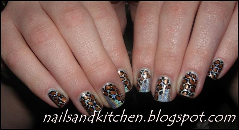 Holo panther nail art by Eliza