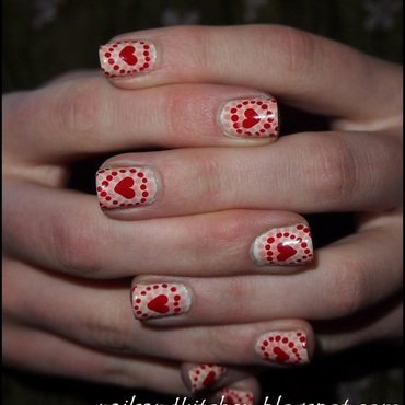 Valentine's Day Nails nail art by Eliza