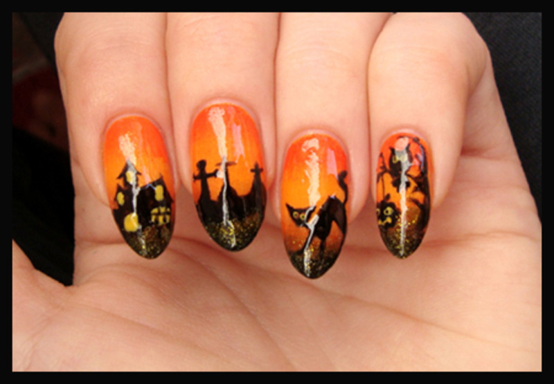halloween nails nail art by ania