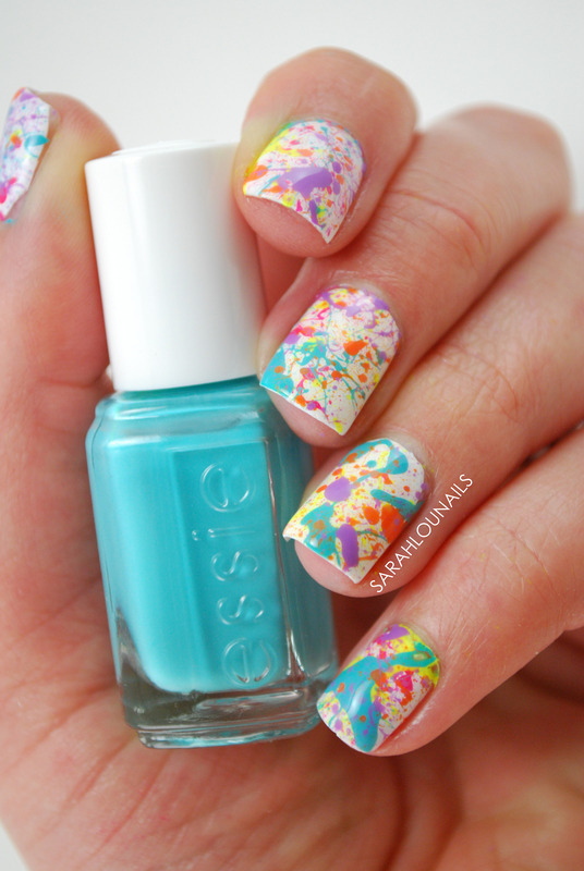 Splatter paint nails nail art by sarah s nailpolis museum of splatter paint nails nail art by sarah s prinsesfo Image collections